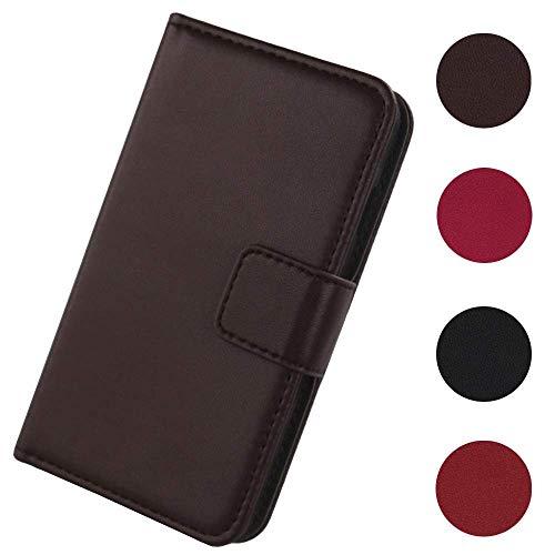 Lankashi Flip Premium Echt Leder Tasche Hülle Für TP-LINK Neffos Y50 4.5
