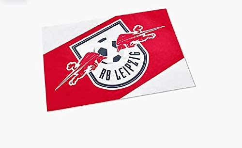 RB Leipzig Block Flagge, Rot Unisex Large Fahne, RasenBallsport Leipzig Sponsored by Red Bull Original Bekleidung & Merchandise