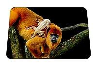 22cmx18cm マウスパッド (サル家族カブの木這う) パターンカスタムの マウスパッド
