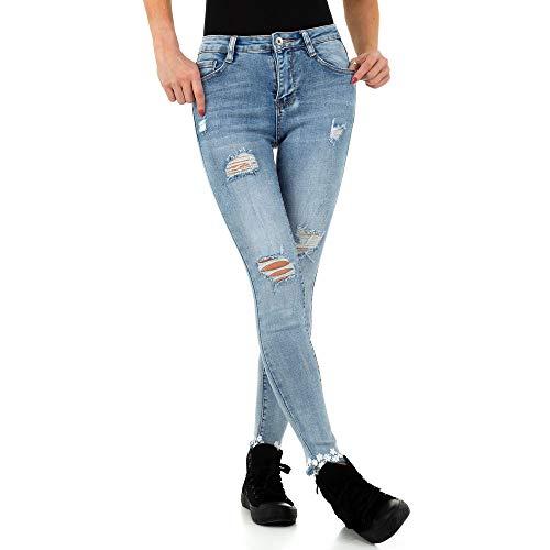 Ital Design Damen Destroyed Skinny Jeans Laulia Gr. S/36 Blau