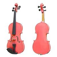 ZHANGHA 4文字列4/4バイオリン電気バイオリンオリジナルサウンドバイオリンメープルスプルースウッドピンク ZHANGHA (Color : 1)