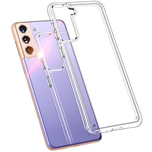 HOOMIL Full Clear Cover Compatibile con Samsung Galaxy S21 Plus Custodia Silicone Trasparente