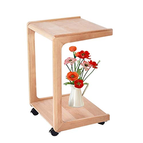 N/Z Living Equipment Rechteck Massivholz Couchtisch Mobile Beistelltisch Beistelltisch für zu Hause Wohnzimmer Büro Nesting Tische