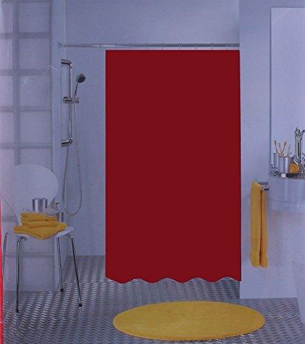 Leifheit von Spirella Bio Rot Duschvorhang 120x200cm.