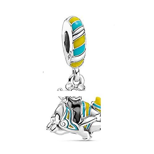 Pandora 925 Sterling Silver DIY Jewelry CharmBeads Mouse Head in Shiny Elephant Colgante Colgante de moda para mujer Pulsera Pulsera Joyería
