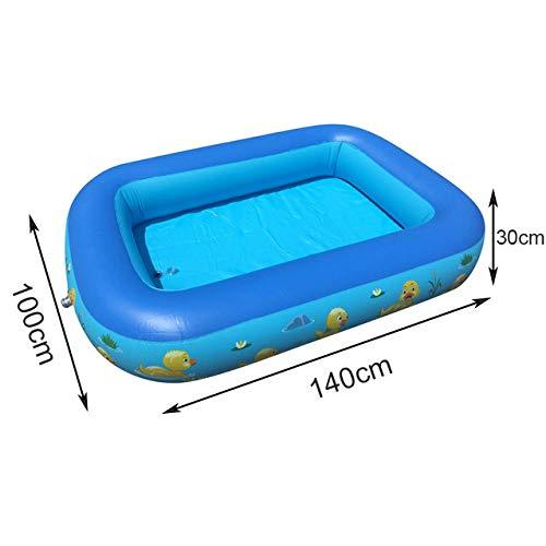 DOOS, piscina para niños, bañera para niños, uso doméstico para bebés, piscina para niños, piscina cuadrada inflable, piscina inflable para niños 125 x 88 x 50 cm