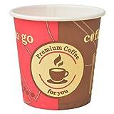 vidaXL 1000x Einweg-Kaffeebecher 120 ml 4 oz Pappbecher Coffee to go Becher, Papier