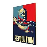 インテリアポスター・プリント- DeviantartのNuzazatによる政治的な磁気ポスター - キャンバス絵画 木枠付きの完成品 新築飾り 贈り物 サイズ(40x50cm)