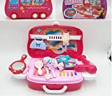 Brunte Indian Doll House Beauty Set Great Playset Toys with Bus Kind Case for Kids