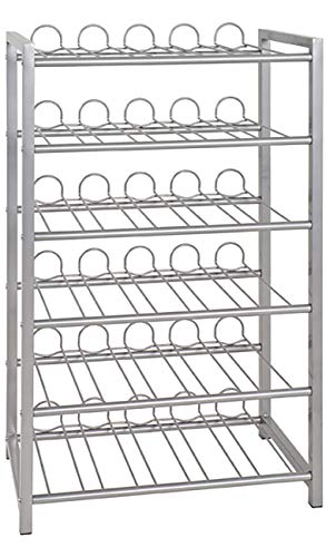 Haku Möbel Flaschenständer - Stahlrohr alufarben lackiert - für ca 54 Flaschen H 90 cm