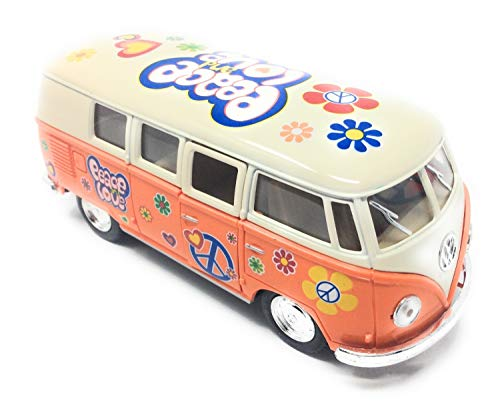 CBK-MS. Modellauto T1 Bus Peace and Love 1962 orange / beige Rückziehmotor