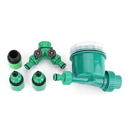 VIFERR Bewässerungsregler, Gartenwasser-Timer Bewässerungsset mit Y-förmigem Schnellanschluss Bewässerungsregler 5 Teile/Satz