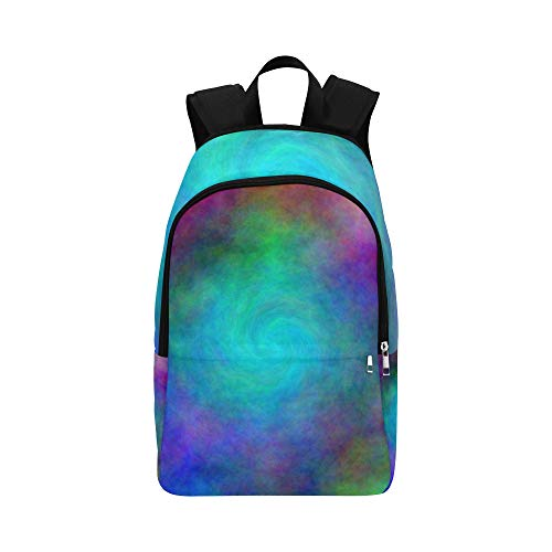 Color Abstract Hole Plasma Spiral Casual Daypack Travel Bag College School Backpack for Mens and Women