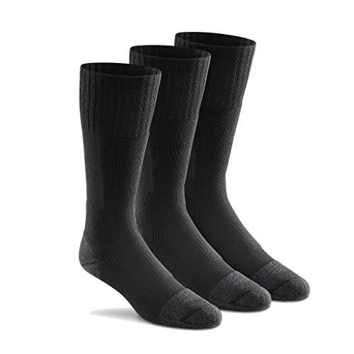 Fox River Men's Wick Dry Maximum Mid Calf Military Sock, 3 Pack (Black, Large)