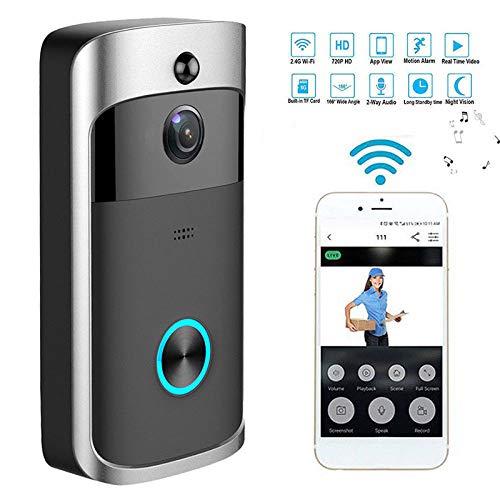Mochalight Wireless WiFi Video Doorbell Camera,Smart Home Video Phone Door Visual Ring Intercom Secure Camera