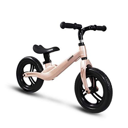Stone Home Balance Fahrrad Kind-Roller Leichtes Fahrrad Baby-Balancen-Fahrrad-Fahrt auf Spielzeug bestes Spielzeug for 3-14 Jahre alt Walker-Roller-Fahrrad (Color : Gold)