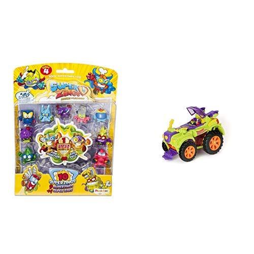 SuperZings - Serie 4 - Blister 10 Figuras (9 Figuras 1 Figura Dorada Super Rare)+ PlaySet Villano Truck Especial Vehículos y Figuras coleccionables, Color Verde: Amazon.es: Juguetes y juegos