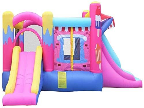 JCCOZ-URG Kids Bouncy Castle Large Inflatable Castle Trampoline Slide Children's Play Facilities Inflatable Castle Inflatable Bouncer Bounce House (520 x 275 x 205cm) URG
