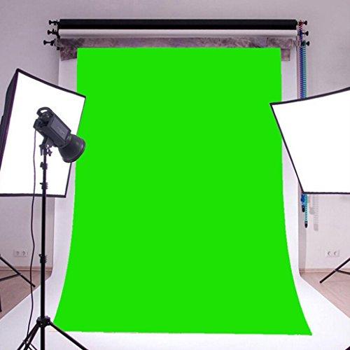 STRIR Telón de Fondo para Estudio Fotográfico, Vídeo y Televisión,Medidas 150 * 210cm/5 x 7FT (Verde)