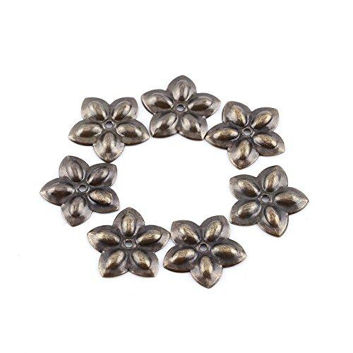 Clavos Retro Metal Etiquetas Muebles Sofá Puerta Del Zapato Decorativo Tack Stud Clavos de Uave/Daisy/Square/Plum Nail para Sofa Decoration Pack de 100 (23×23mm)