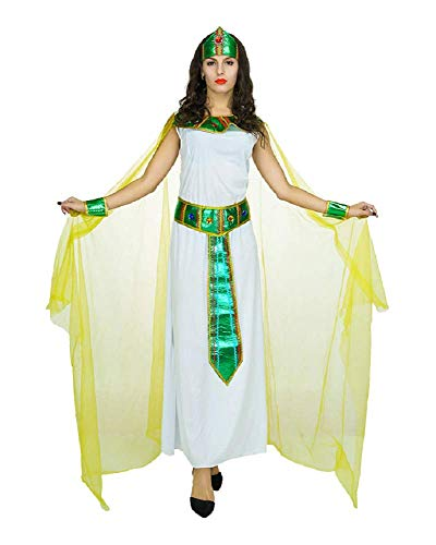 Lovelegis Disfraz de sacerdotisa Vestal egipcia Cleopatra Nefertiti Disfraz - Carnaval -...