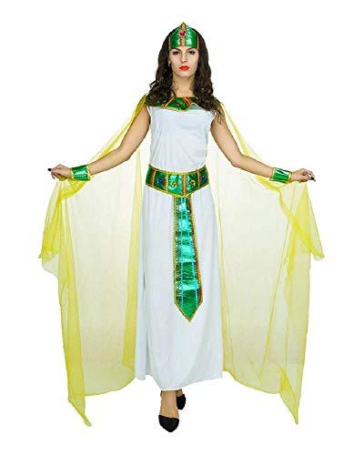 Lovelegis Ägyptische Vestalin Priesterin Cleopatra Nofretete Verkleidung Kostüm - Karneval - Halloween - Cosplay - Zubehör - Frau Mädchen - Einheitsgröße