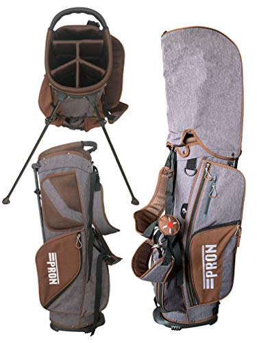 pron Japan Lgt Crossover Stand Golf Tas, Bruin met Smoke Color, 2019 Model