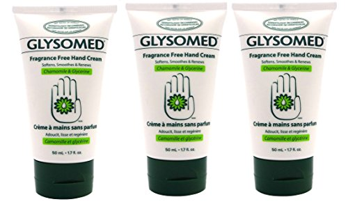Glysomed Hand Cream 1.7 Oz Purse Travel Size Fragrance Free (3 Tubes) by Glysomed
