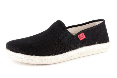 Zapatillas Unisex para Mujer y Hombre - AM500 - para Verano - Zapatillas - de Lona con Suela de Goma Antideslizante – Color Negro EU 48