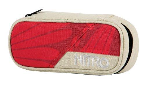 Nitro Pencil Case XL inkl. Geo Dreieick & Stundenplan, Federmäppchen, Schlampermäppchen, Faulenzer Box, Federmappe, Stifte Etui, Sunset Feather