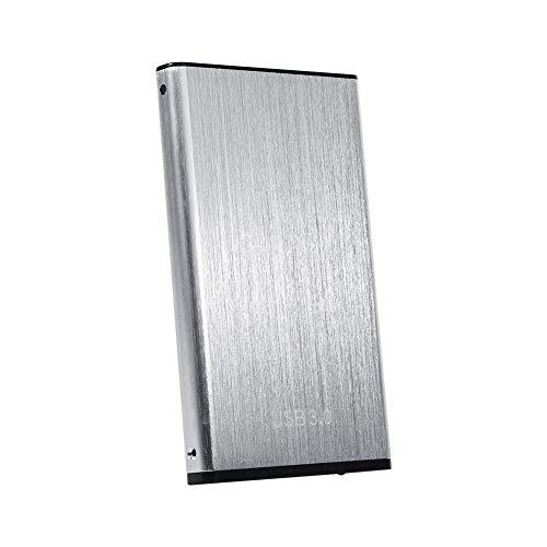 Caja SSD HDD, Caja gratis SATA 3.0 Caja SSD de 2.5', SSD externa, Windows 98 SE para computadora portátil Mac PC XP (Plata)