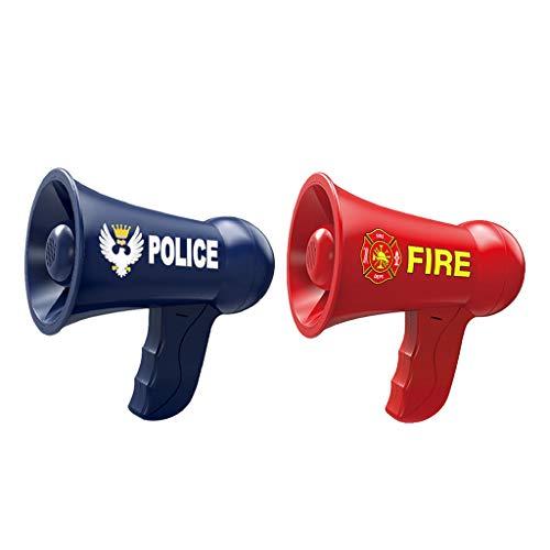 chiwanji 2X Megáfono para Niños, Juguetes de Simulación, Policía