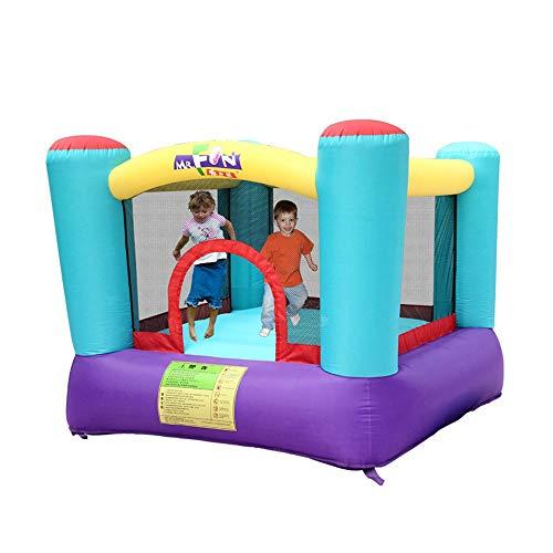 Kids Springkasteel Children's springkasteel Mini Kleine opblaasbare Trampoline Thuis Indoor (Color : Multi-colored, Size : 200x200x160cm)