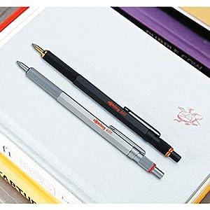 rOtring 800 Retractable Ballpoint Pen, Medium Point, Black