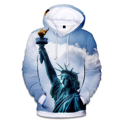 NHFVIRE Zufällige Spitze New Hoodies Männer/Frauen Sweatshirts mit Kapuze 3D-Druck Herbst-Winter Hoodie Royal Blue M