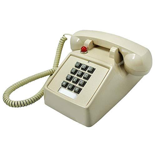 YGB Nuevo teléfono Vintage Antiguo Tipo de botón Antiguo teléfono Fijo Antiguo teléfono Antiguo Timbre mecánico Americano teléfonos de Moda creativos, Negro (Color: Blanco)