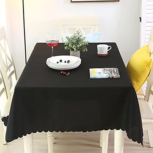 XQSSB Mantel de Mesa Manteles Estilo Resistente Al Desgaste Grueso Manteles Rectangulares de Mesa de Café Manteles Negro 180 × 280cm