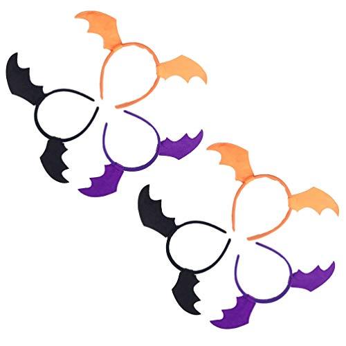 Lurrose 6 diademas de alas de murciélago para Halloween, bate de ala, diademas para Halloween, cosplay, accesorio para el pelo para Halloween, fiestas, regalos