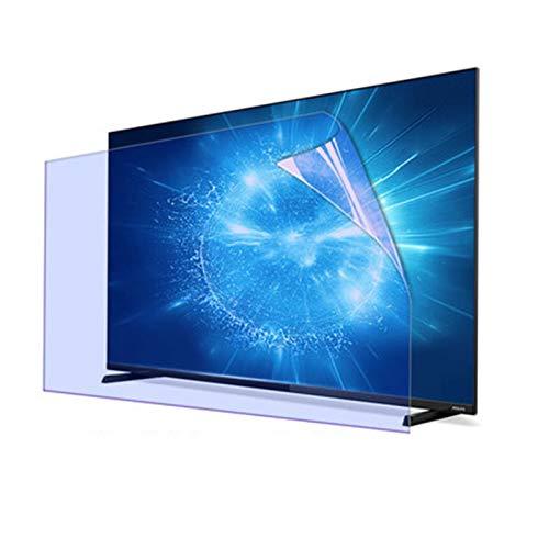 ALGWXQ Protector de Pantalla Anti Luz Azul para TV,Antihuellas Película de Filtro Antideslumbrante Reducir La Radiación Proteger Los Ojos Adecuado para Televisores de 27 A 75 Pulgadas