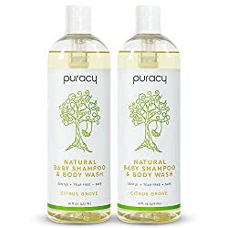 Puracy Natural Baby Shampoo & Body Wash Bottles