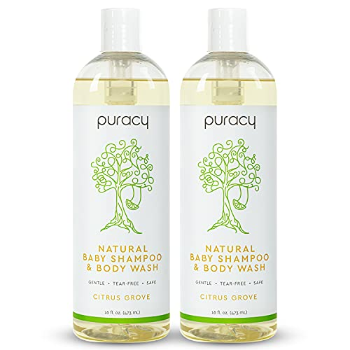 Puracy Baby Shampoo & Body Wash (Two-Pack)- Natural, Fragrance-Free Baby Body Wash for Sensitive Skin- 2 12-Ounce Bottles of Plant-Based Baby Wash and Shampoo for Daily Use