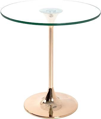 Haku Möbel Table d'appoint, Acier, doré, Ø 45 x 47 cm