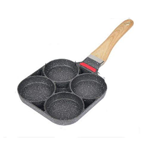 SPNEC Negro sartén-multietapa Antiadherente sartén, Olla seco, Muy Adecuado for Grandes Comidas, freír, Carne y Desayuno (para Gas)