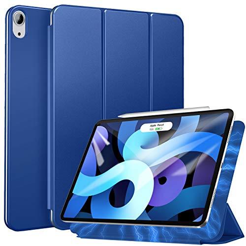 ZtotopHülle Magnetische Schutzhülle für iPad Air 4 2020,Ultra Slim Smart Magnetic Back Trifold Stand Schutzhülle für iPad Air 4 10.9 Zoll 2020,Blau