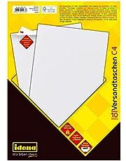 Idena 10232 koperta DIN C4, 90 g/m2 skórka i uszczelka, opakowanie 10 sztuk, FSC mix 10 sztuk, bez okna, biała 10 sztuk, 100 g/m² biała