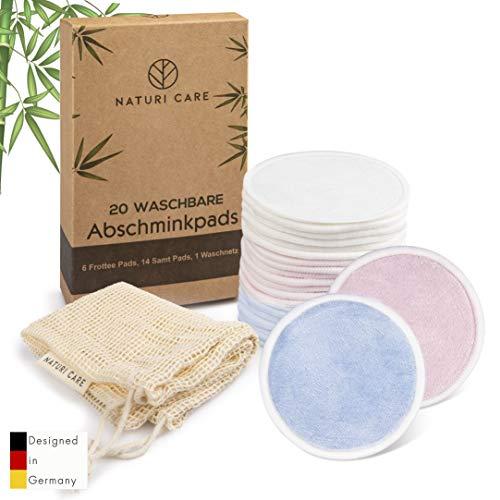 20 waschbare Abschminkpads I Hochwertige Wattepads aus feinstem Fasermix, Mikrofaser, Baumwolle & Bambus für porentiefe Reinigung | Umweltfreundlich & nachhaltig