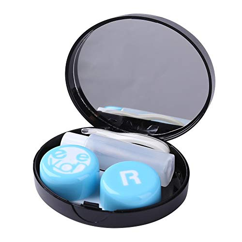 Everpert Quadratische Kontaktlinsenbox Set unsichtbare Reisetasche Tragbare Stillflasche Flasche Set Brille Tragen Werkzeug