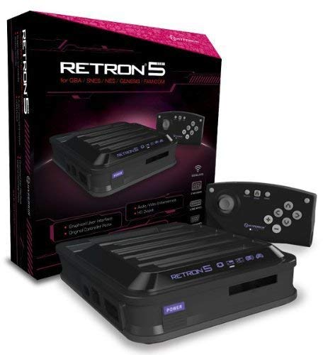 Hyperkin RetroN 5: HD Gaming Console for Game Boy Advance/ Game Boy Color/ Game Boy/ Super NES/ NES/ Super Famicom/ Famicom/ Genesis/ Mega Drive/ Sega Master System (Black)