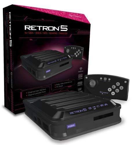 Console Retron 5 - noir (GBA/SNES/NES/GENESIS/FAMICOM)