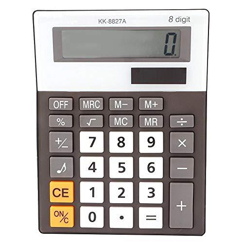 Elektronischer Taschenrechner 8-stelliger, batteriebetriebener Basis-Taschenrechner mit Piepton und großem LCD-Bildschirm für das Büro